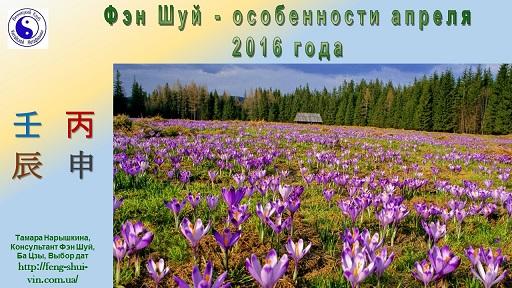 Фэн Шуй прогноз на апрель 2016г.