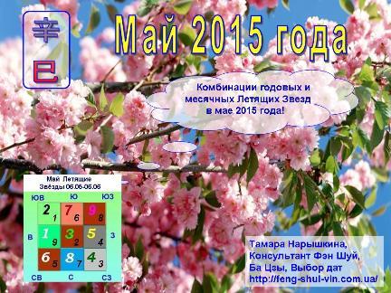 Комбинации годовых и месячных Летящих Звезд  в  мае  2015 года!
