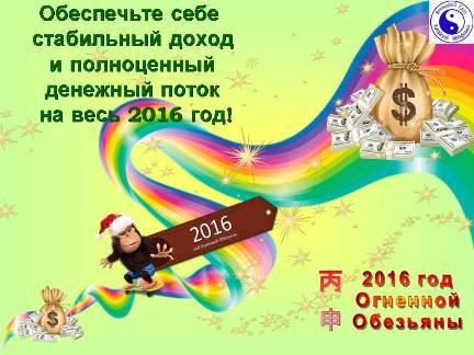 Денежные активации на 2016 год