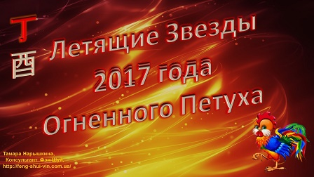Фэн Шуй прогноз на 2017г. Огненного Петуха по Летящим Звездам