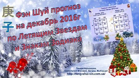 Фэн Шуй прогноз на декабрь 2016г
